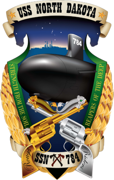 USS North Dakota (SSN-784) crest 2013